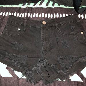 Forever 21 black jean shorts